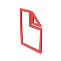 Symbol Electronic File Red PNG & PSD Images
