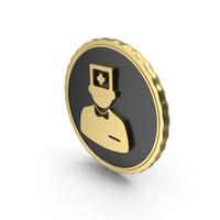 Logo Doctor Nurse Gold PNG & PSD Images