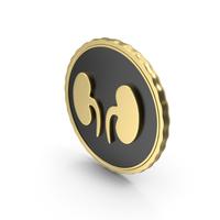 Logo Kidney Gold PNG & PSD Images
