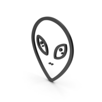 Symbol Alien Black PNG & PSD Images