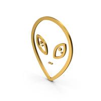 Symbol Alien Gold PNG & PSD Images