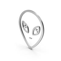 Symbol Alien Silver PNG & PSD Images