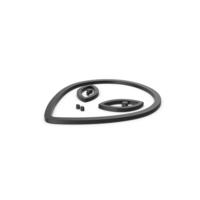 Black Symbol Alien PNG & PSD Images