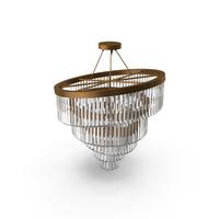 Gold Plated Spiral Crystal Designer Chandelier PNG & PSD Images