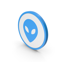 Icon Alien Blue PNG & PSD Images