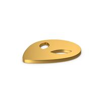 Gold Symbol Alien PNG & PSD Images