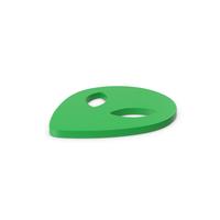 Green Symbol Alien PNG & PSD Images