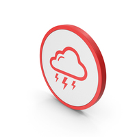Icon Weather Thunderstorm PNG & PSD Images
