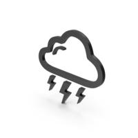 Symbol Weather Thunderstorm Black PNG & PSD Images