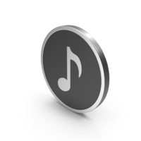 Silver Icon Music Note PNG & PSD Images