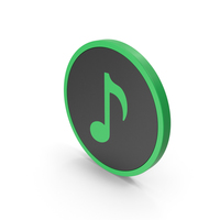 Icon Music Note Green PNG & PSD Images