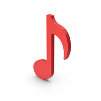 Symbol Music Note Red PNG & PSD Images