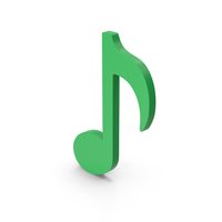 Symbol Music Note Green PNG & PSD Images