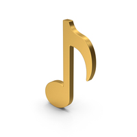 Symbol Music Note Gold PNG & PSD Images