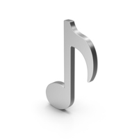 Symbol Music Note Silver PNG & PSD Images