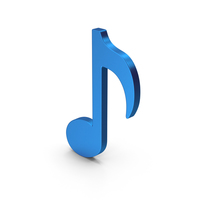 Music Note Blue Metallic PNG & PSD Images