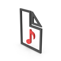 Symbol Audio File Red PNG & PSD Images