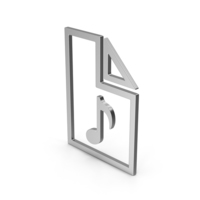 Symbol Audio File Silver PNG & PSD Images