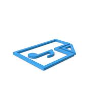 Blue Symbol Audio File PNG & PSD Images