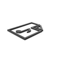 Black Symbol Audio File PNG & PSD Images