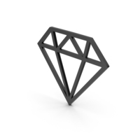 Symbol Diamond Black PNG & PSD Images