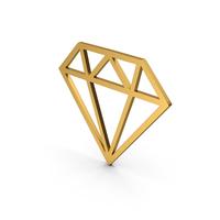 Symbol Diamond Gold PNG & PSD Images