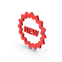 Symbol New Badge Red PNG & PSD Images