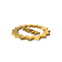 Gold Symbol New Badge PNG & PSD Images
