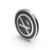 Silver Icon No Smoking PNG & PSD Images