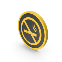 Icon No Smoking Yellow PNG & PSD Images