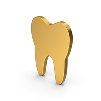 Symbol Tooth Gold PNG & PSD Images