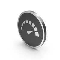 Silver Icon Speedometer PNG & PSD Images
