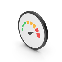 Icon Speedometer Colored PNG & PSD Images