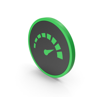 Icon Speedometer Green PNG & PSD Images