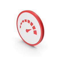 Icon Speedometer Red PNG & PSD Images