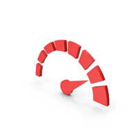 Symbol Speedometer Red PNG & PSD Images