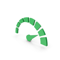 Symbol Speedometer Green PNG & PSD Images