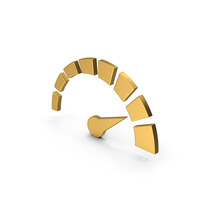 Symbol Speedometer Gold PNG & PSD Images