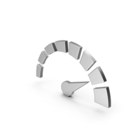 Symbol Speedometer Silver PNG & PSD Images