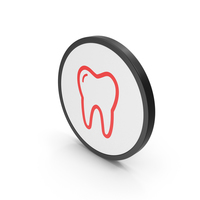 Icon Tooth Red PNG & PSD Images