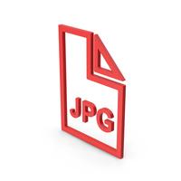 Symbol JPG File Red PNG & PSD Images