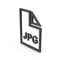 Symbol JPG File Black PNG & PSD Images
