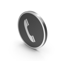 Silver Icon Phone Call PNG & PSD Images