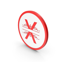 Icon Red Letter X PNG & PSD Images