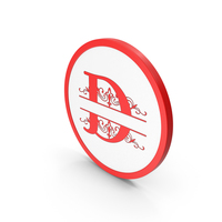 Icon Red Letter D PNG & PSD Images