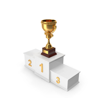 Trophy Cup and Podium PNG & PSD Images