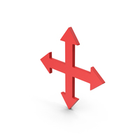 Symbol Move Button Red PNG & PSD Images