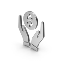 Symbol Money In Hands Silver PNG & PSD Images