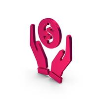 Symbol Money In Hands Metallic PNG & PSD Images
