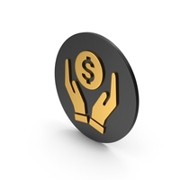 Money In Hands Gold Icon PNG & PSD Images